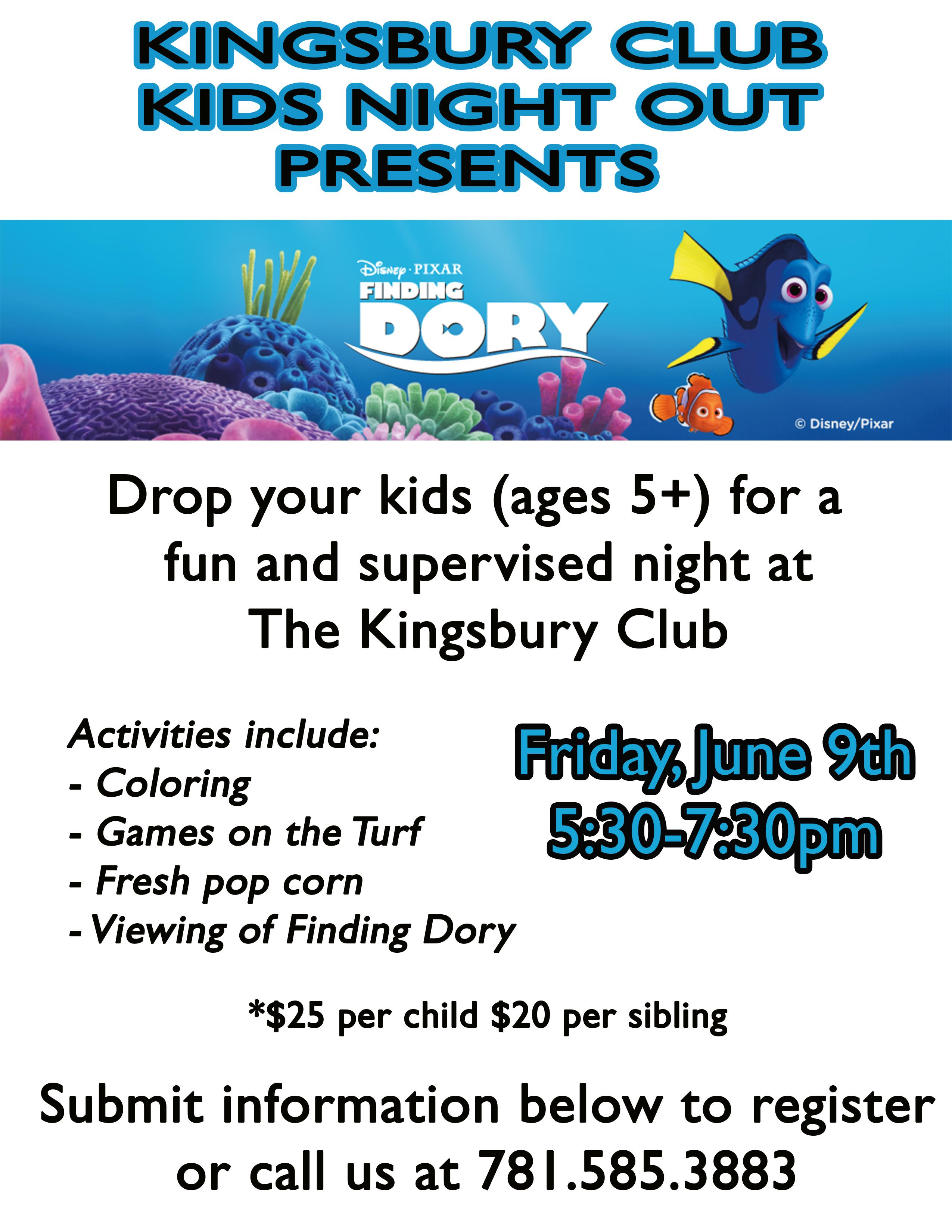 KNO Finding Dory Submit Info