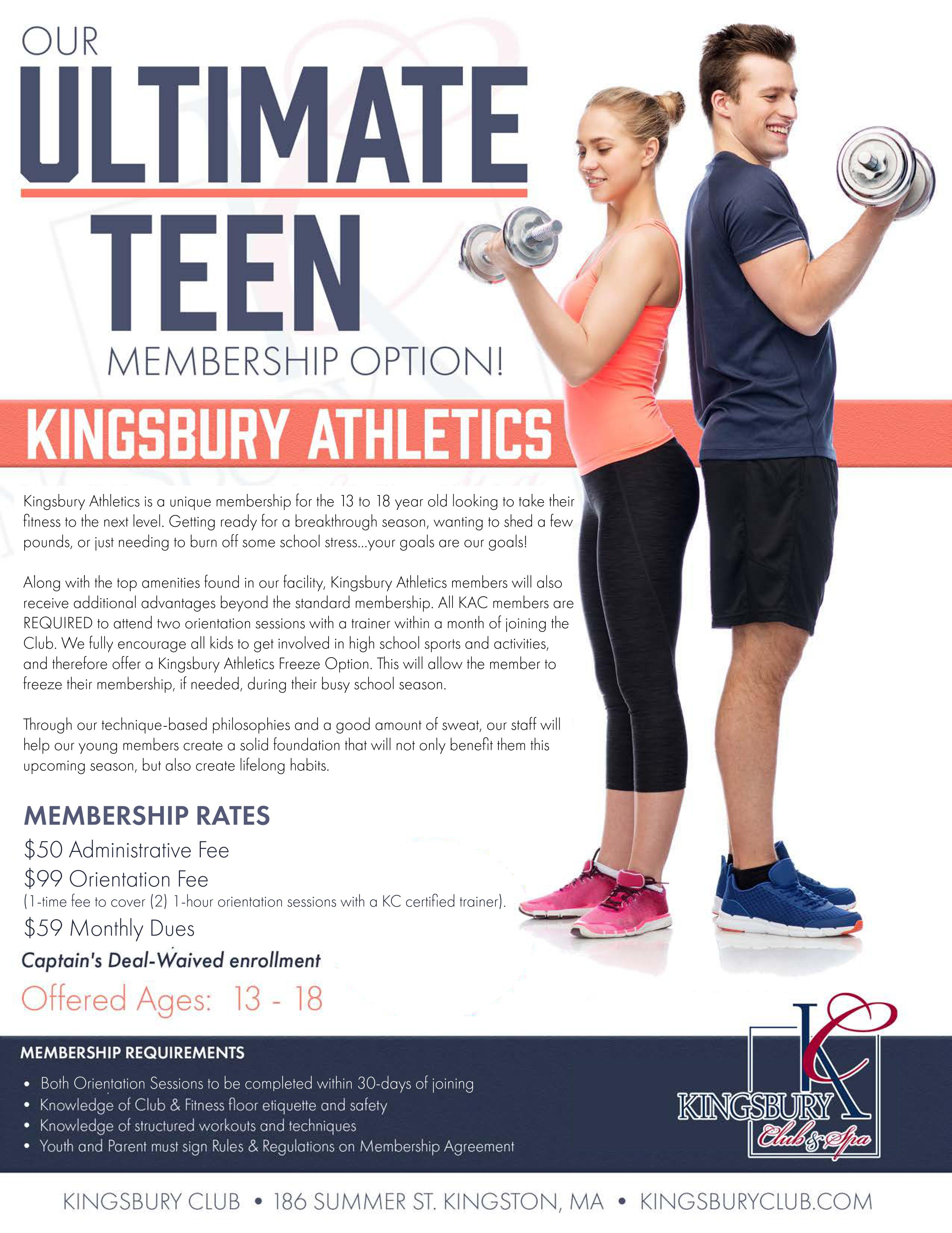 kingsbury athletics ultimate teen